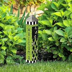 20 Inch Art Pole 4x4 Bee Trellis