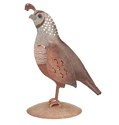 Quail Decor Sculpture Female