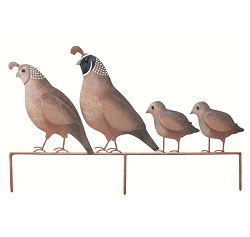 Quail Family Silhouette Staked Yard Art