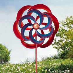 Kaleidoscope Double Kinetic Stake Garden Spinner