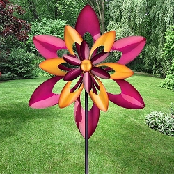Starflower Kinetic Stake Garden Spinner
