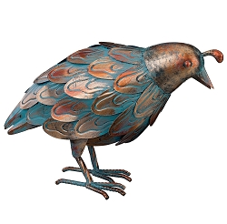 Patina 3D Quail Decor Sculpture Down