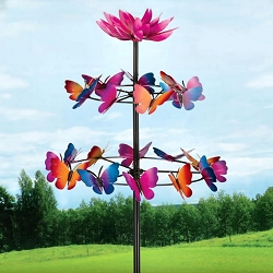 Butterfly Dance Kinetic Stake Garden Spinner