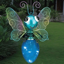 Solar Light Butterfly Lantern Blue