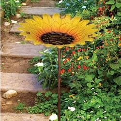Birdbath/Bird Feeder Garden Stake Sunflower