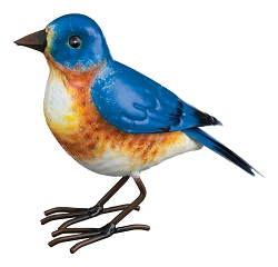 3-D Metal Garden Decor Sculpture Bluebird