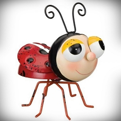 Mini Buggy 3-D Decor Sculpture Ladybug