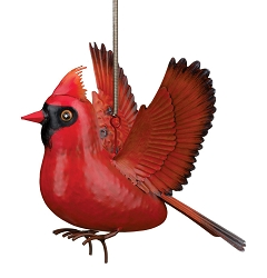 3-D Metal Garden Decor Sculpture Cardinal Bouncie