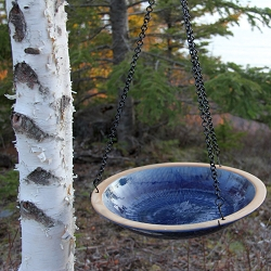 Alcyon Radial Hanging Bird Bath Baywater Blue
