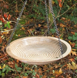 Alcyon Circles Hanging Bird Bath Sandy Granite