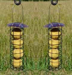 Deluxe Petite Copper Suet Ball Feeder Set of 2
