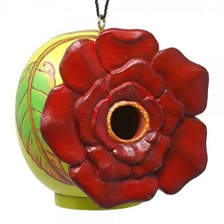 Rose Flower Gord-O Birdhouse