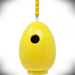 Egg Bird House Yellow