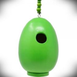 Egg Bird House Green