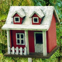 Picket Fence Cottage Bird House