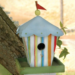 Retro Circus Tent Bird House