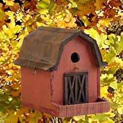 Little Red Barn Bird House