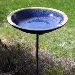 Alcyon Radial Staked Bird Bath Baywater Blue