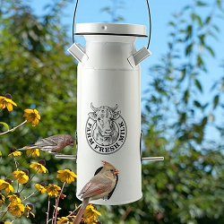 Milkhouse Vintage Milk Can Seed Feeder