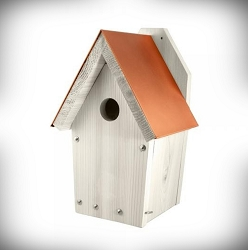 Nantucket White Coppertop Bluebird House