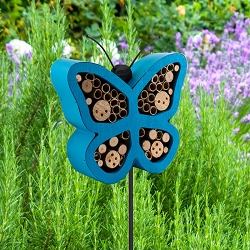 Audubon Butterfly Shape Insect Shelter Stake Set of 6