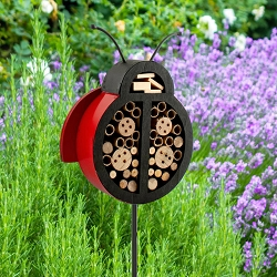 Audubon Ladybug Shape Insect Shelter Stake Set of 2