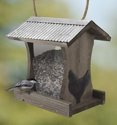 Rustic Farmhouse Tall Hopper Feeder