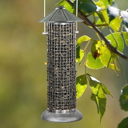 Rustic Farmhouse Silo Sunflower Feeder Set of 2