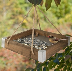 Rustic Farmhouse Hanging Platform Feeder
