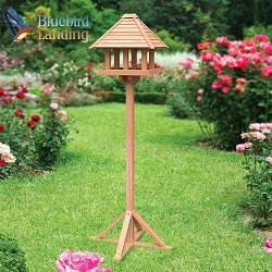 Cedar Gazebo Bird Table with Stand
