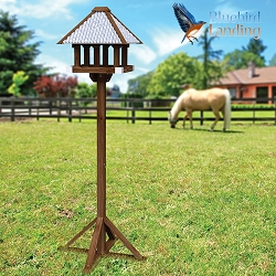 Rustic Farmhouse Bird Table with Stand