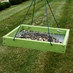 Going Green Recycled Plastic Small Hanging Platform Feeder