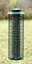 Audubon Caged Screen Sunflower Tube Feeder