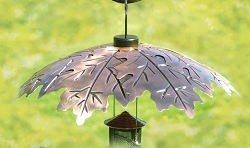 Audubon Brushed Copper Oak Leaf Weather Shield 18