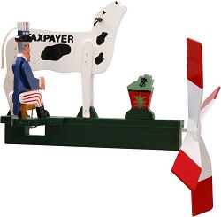 Classic Uncle Sam Taxpayer Whirligig