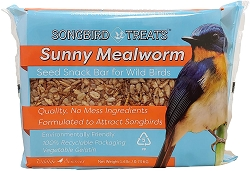 Songbird Treats Sunny Mealworm Seed Bar 1.6 lb. 4/Pack