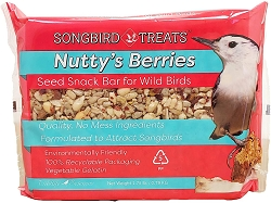 Songbird Treats Nutty's Berries Seed Bar 1.6 lb. 4/Pack