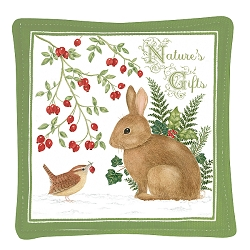 Winter Bunny Spiced Mug Mat Set of 4