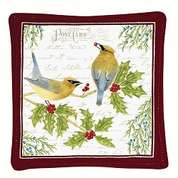 Cedar Waxwing Spiced Mug Mat Set of 4