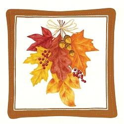 Autumn Leaves Spiced Mug Mat Set of 4