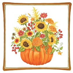 Pumpkin Bouquet Spiced Mug Mat Set of 4