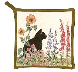 Black Cat Potholder