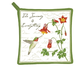 Hummingbird Potholder