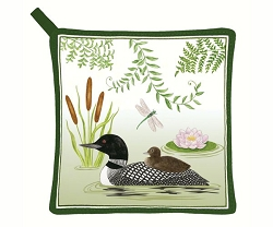 Loon Potholder