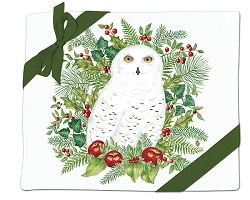 Snowy Owl Flour Sack Towel Set of 2
