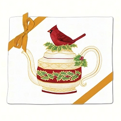 Cardinal Teapot Flour Sack Towel Set of 2