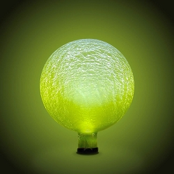 Solar Celestial Crackle Glass Orb 10