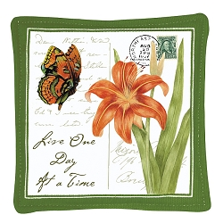 Orange Butterfly Spiced Mug Mat Set of 4