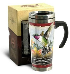 Hummingbird 24 oz. Steel Travel Mug