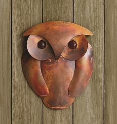 Flamed Copper Owl Wall Decor